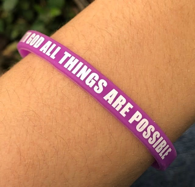 With God All Things Are Possible Silicone Wristband