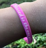 Blessed is the one who Trusts in the Lord Silicone Wristband