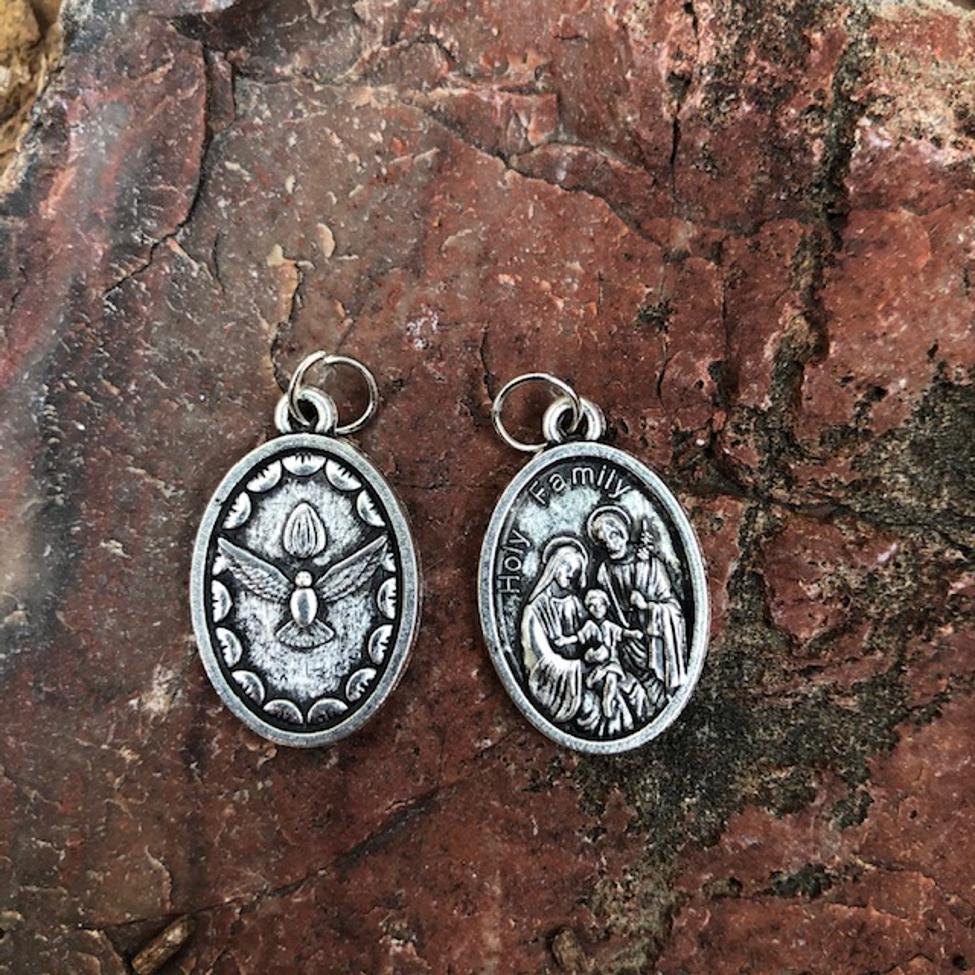 Holy Family Oxidized Medal