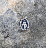 "1/2"" Miraculous Mother Blue Enamel Charm"