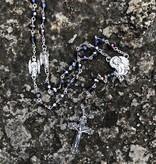 St Michael Amethyst Crystal Rosary