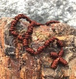 Brown Knotted Cord Rosary
