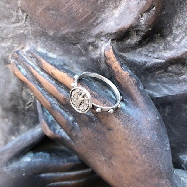 St Benedict Medium Rosary Ring