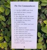 The Ten Commandments Holy Card