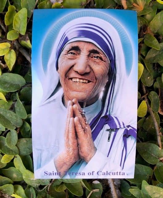 St Teresa of Calcutta Holy Card