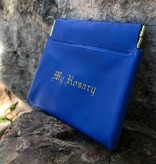 Blue Rosary Clutch Case