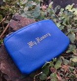Blue Zippered Rosary Case