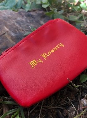 Red Zippered Rosary  Case