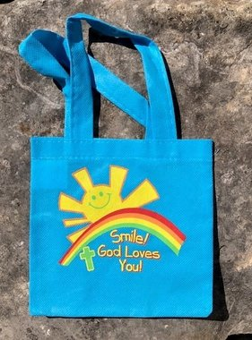 Smile! God Loves You! Mini Tote Bag