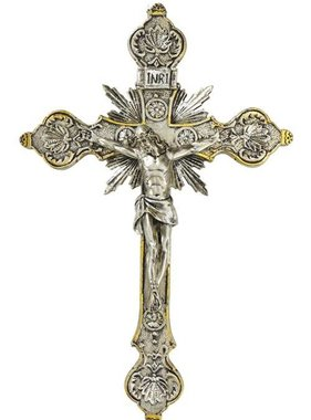 Silver/Gold Ornate Wall Crucifix