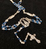 Our Lady of Fatima Blue Iridescent Rosary
