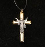 White Risen Christ Pendant w/Cord