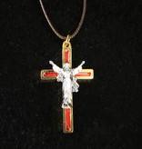 Red Risen Christ Pendant w/Cord