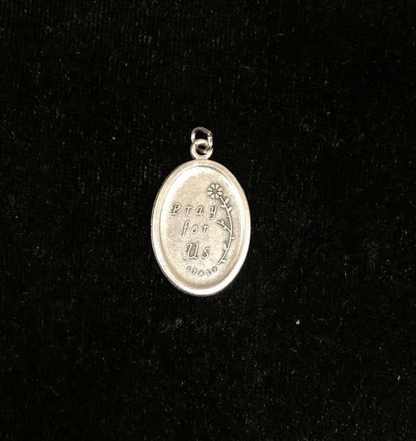 Rosa Mystica Oxidized Medal
