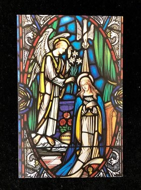 The Mysteries of the Rosary Mosaic Prayer Card