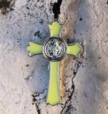 "Luminous St Benedict Crucifix w/cord 2.75"""