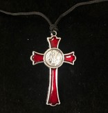 St. Benedict Red Enamel Pendant