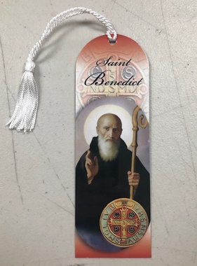 St Benedict Laminated Bookmark