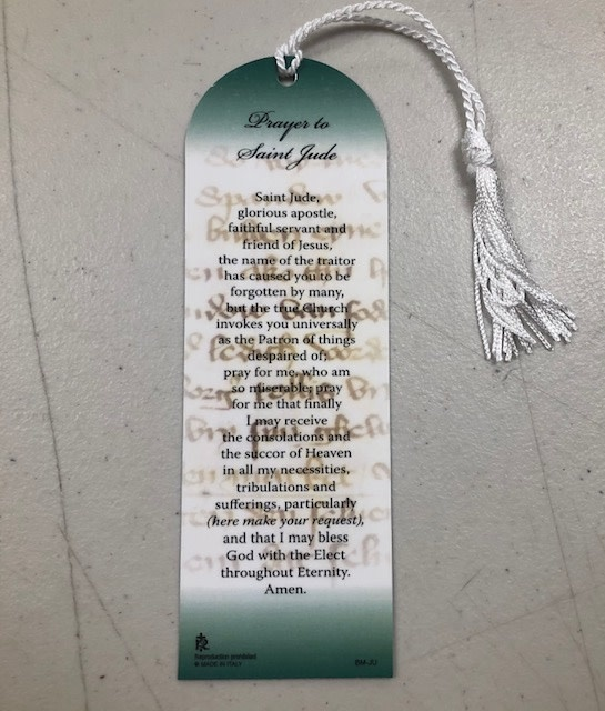 St Jude Thaddaeus Laminated Bookmark
