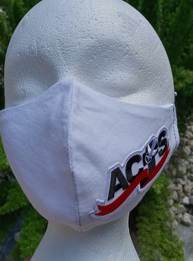 White ACTS Ribbon Logo Face Mask
