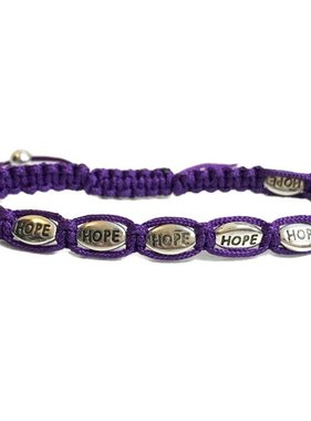 Hope Purple Cord Bracelet