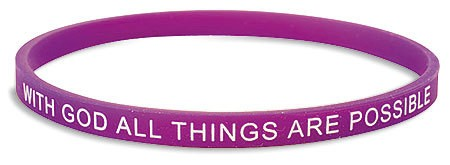 With God All things Silicone Bracelet