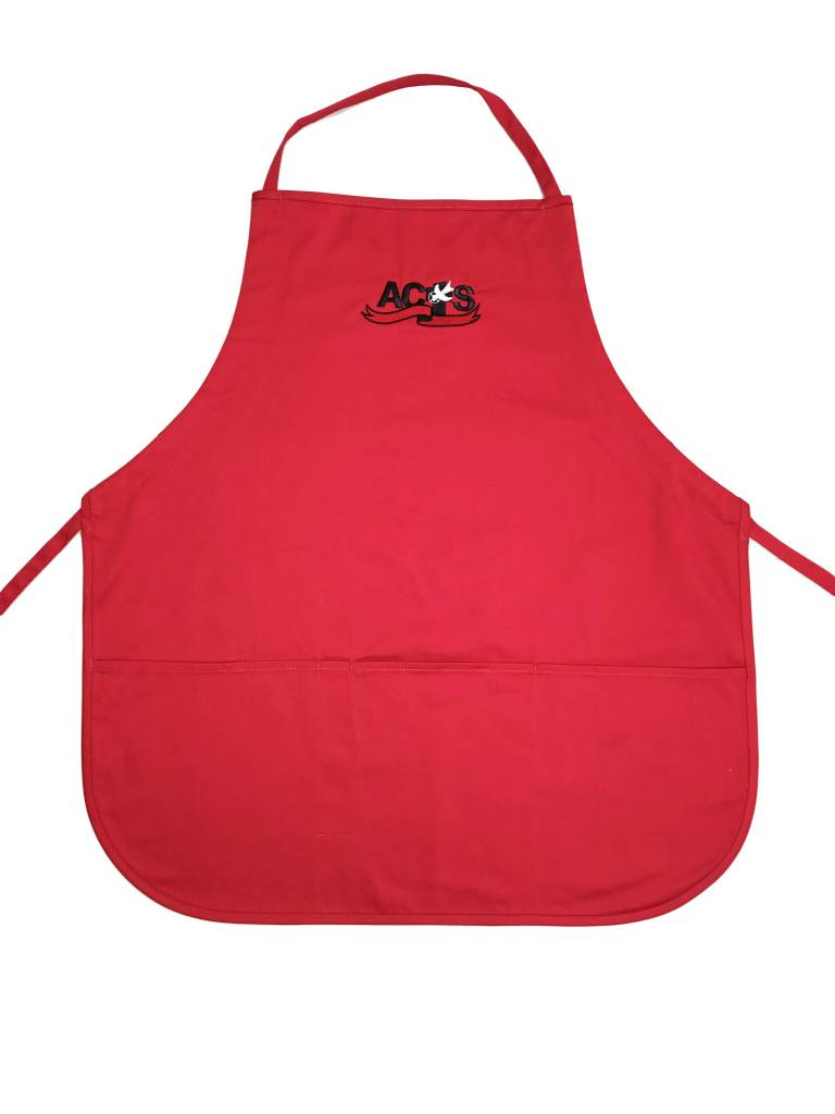 ACTS Ribbon Logo Apron Red