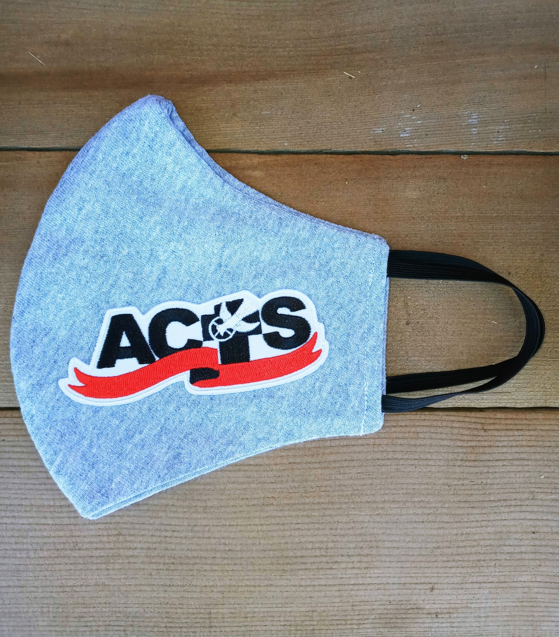 Gray ACTS Ribbon Logo Face Mask