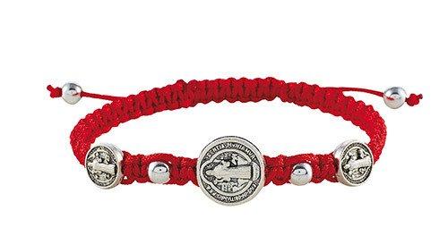 St Benedict Red Trinity Bracelet