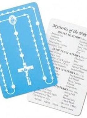 Embossed Rosary Card
