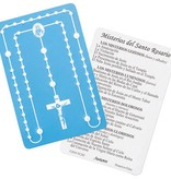 Embossed Spanish Rosary Card