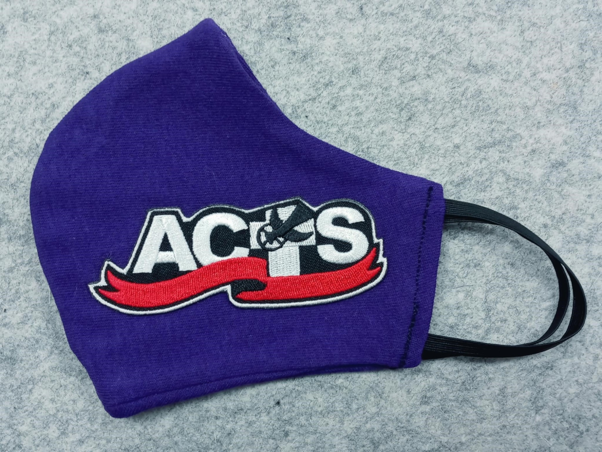 Purple ACTS Ribbon Logo Face Mask