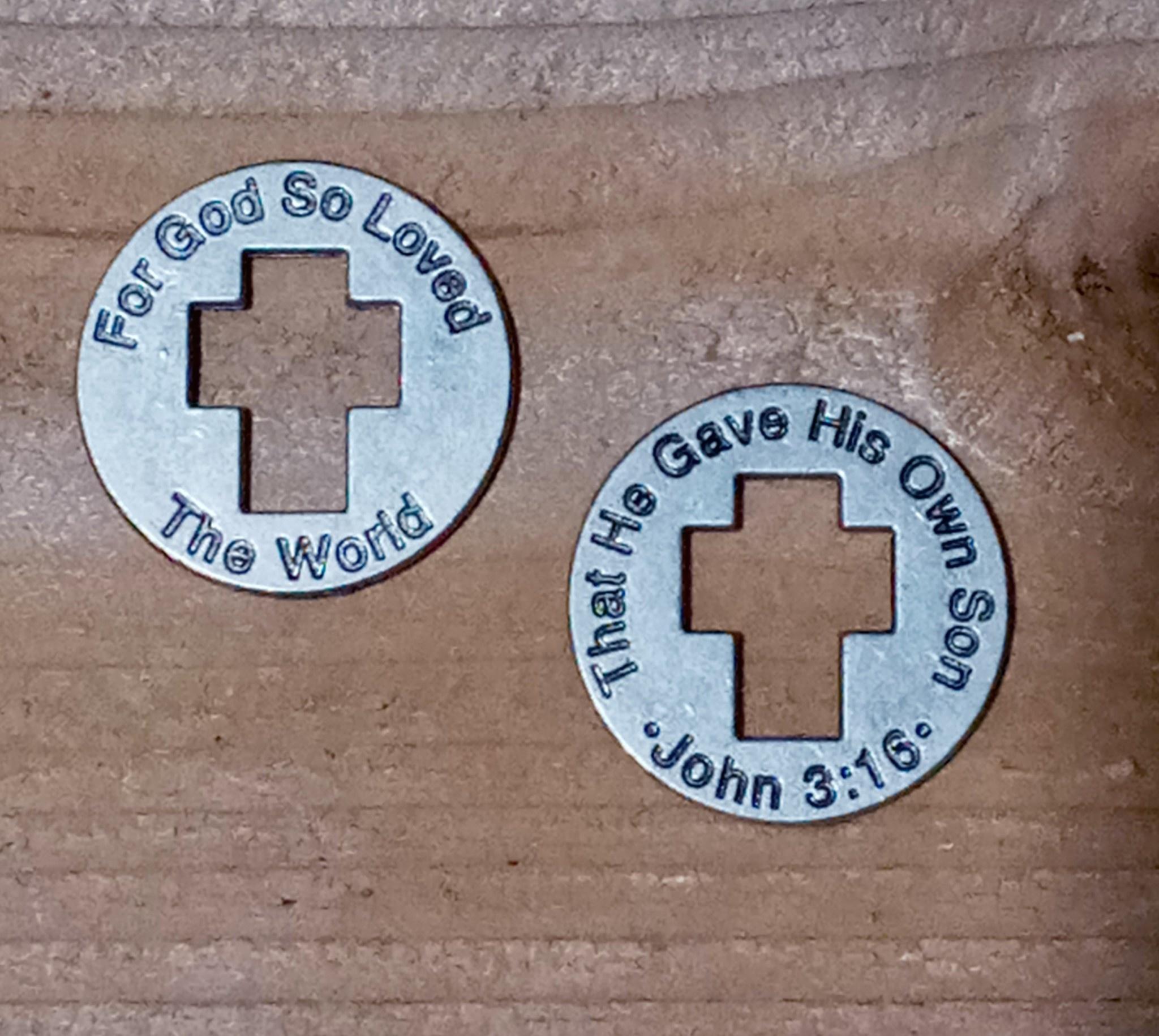 John 3:16 Metal Coin