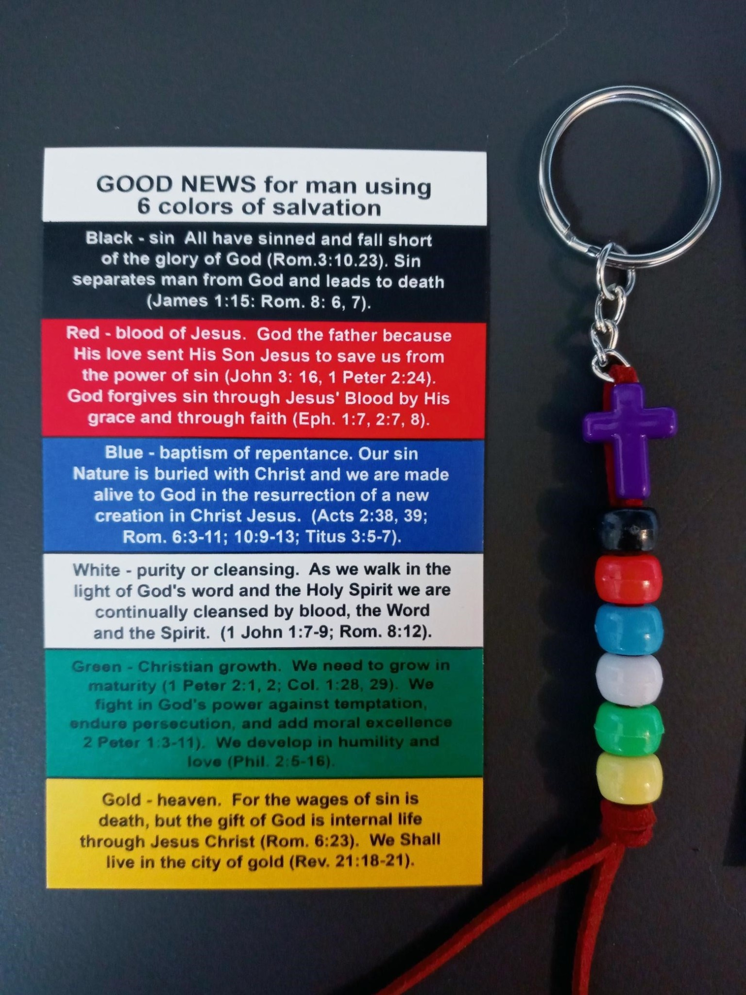 Salvation Bead Key Chain & Card Set
