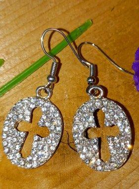 Cross Crystal Earrings