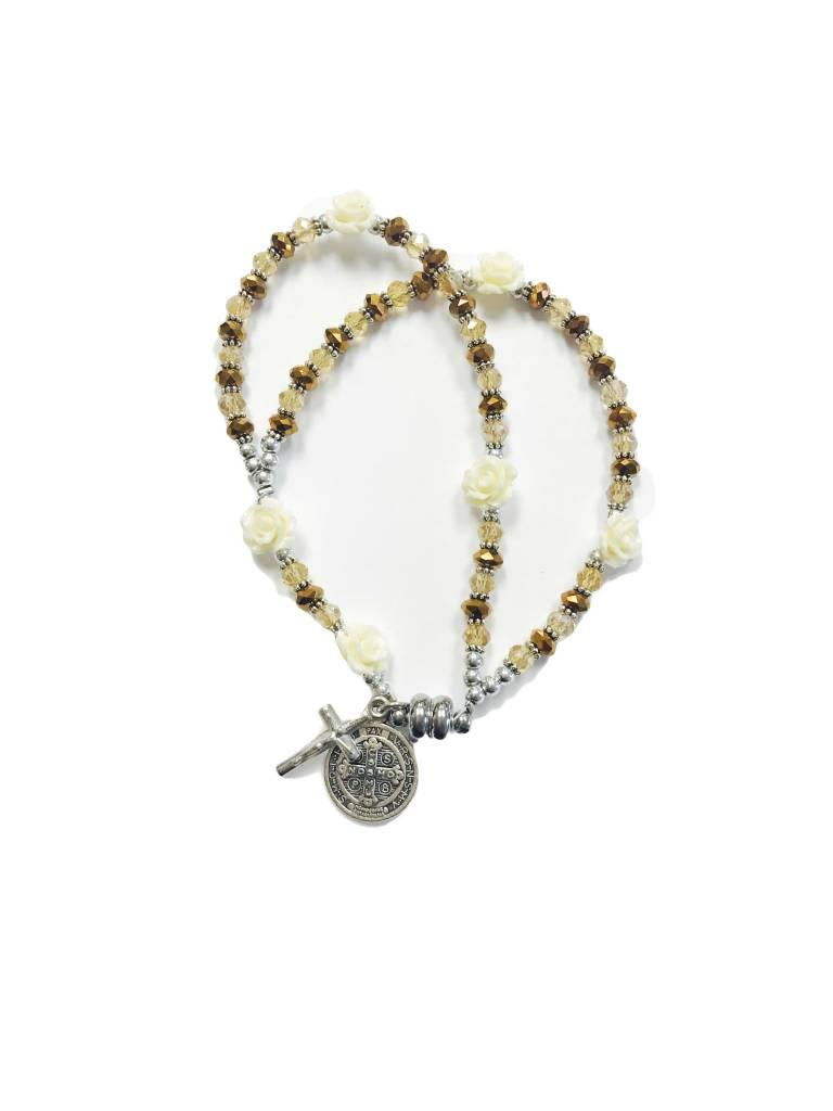 St. Benedict Rose Rosary Bracelet