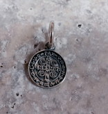 """Sterling Silver St Benedict Charm 7/8"""""""