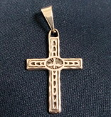 """1"""" Textured Holy Spirit Sterling Silver Cross"""