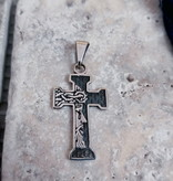 """1"""" Face of Jesus Sterling Silver Pendant"""