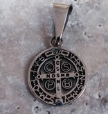 """1/2"""" Sterling Silver St Benedict Pendant"""