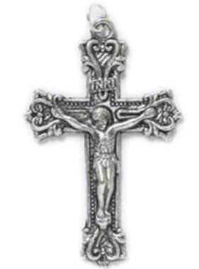 Fancy Scroll Crucifix Pendant w/cord