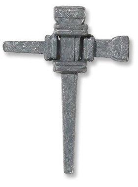 Carpenter's Nail Cross Lapel Pin