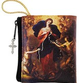 Mary Untier of Knots Zipper Rosary Bag