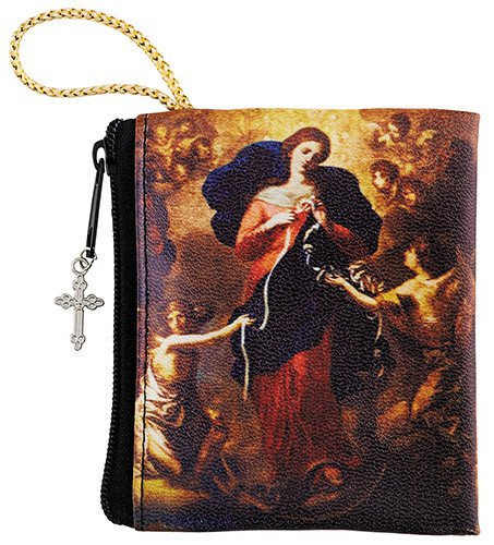Mary Untier of Knots Zipper Rosary Bag