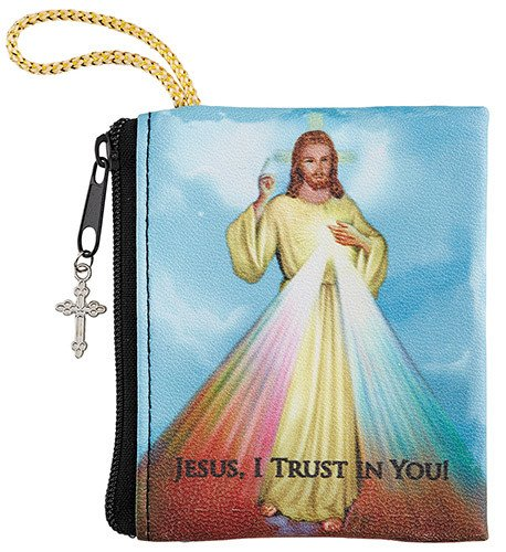 Divine Mercy Zipper Rosary Bag