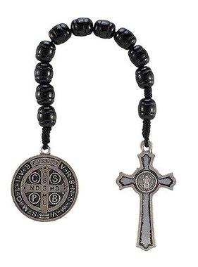 St. Benedict Black Pocket Rosary