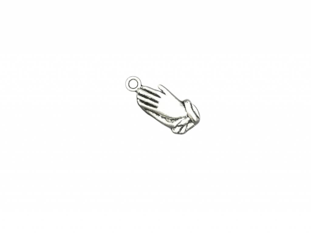 Praying Hands Metal Charm