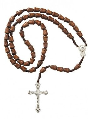 Acorn Wood Bead Rosary