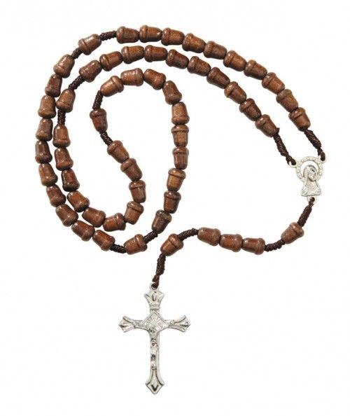 Acorn Wood Bead Rosary