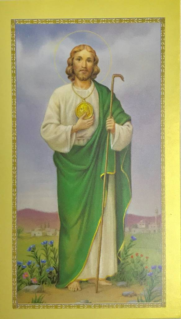 Biligual Novena to St. Jude Prayer Card